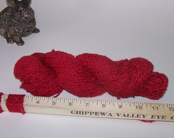 Rescued Red Silk Cotton Blend Yarn 70gr