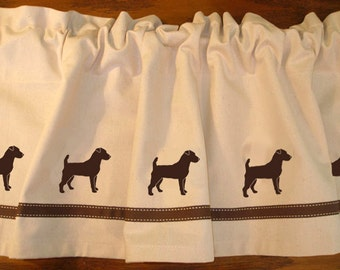 Jack Russell Terrier Dog Window Valance Curtain - Your Choice of Colors
