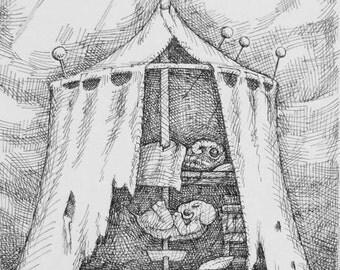 Original Book Illustration - Poet