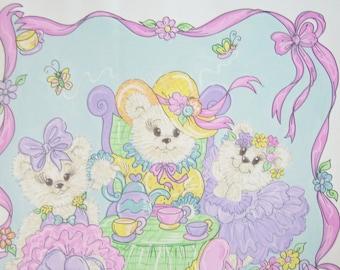 Children's Nursery Art Teddy Bear Tea Party 11 x 14