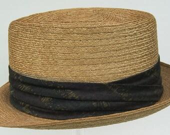 7 1/8 - Vintage 1950s Rockabilly Straw Men's Summer Hat