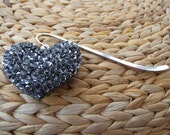 Book Mark with Heart Shaped Fob