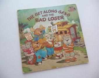 Get Along Gang and the Bad Loser, vintage childrens book, vintage 1984, softcover book,great pictures,reading,scrapbooking,kids book,art