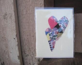 valentine heart cards vintage quilt