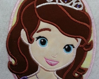 First Princess Applique Embroidery Design