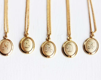 Sample Sale - Oval Letter Necklace - A,D,E,F,G,H,J,N,P,R,W
