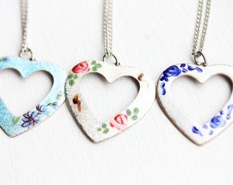 Heart Enamel Necklace