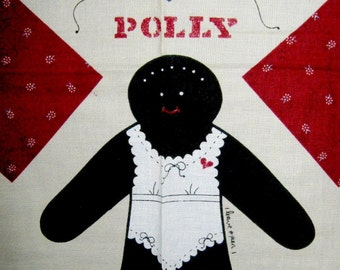 Samantha and Polly Stuffable Black Doll Fabric Panel