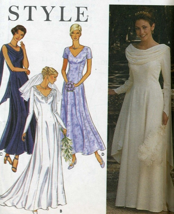 Simplicity 9162 UNCUT  Style Wedding Dress and Bridemaid Dress Sewing Pattern SIZE 8-18