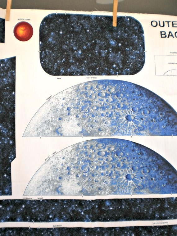Back to school outer space planetary back pack fabric for Outer space material