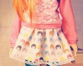 B-Doll skirt for Slim MSD, Unoa, Minifee - white