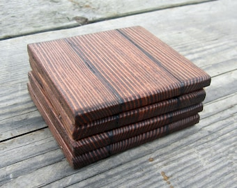 Reclaimed Wood Coasters - Barn board Coaster Set -  Rustic Home Decor