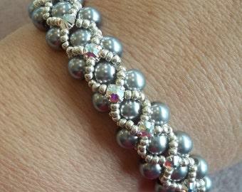 PDF Montee Embellished Pearl Bracelet (INSTANT DOWNLOAD)