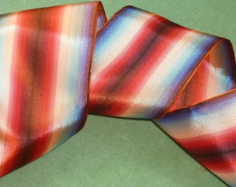 Circa 1950 French Ombre Wired Ribbon