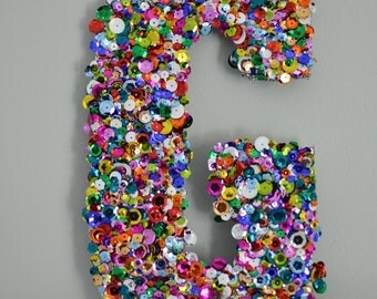 sequin letters made to order personalized large letters with both glitter and sequins