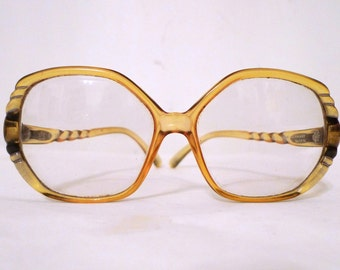 Big Christian Dior Honey Amber Eyeglasses / Frame Germany/ MOD CD Bubble Sunglasses / Sale