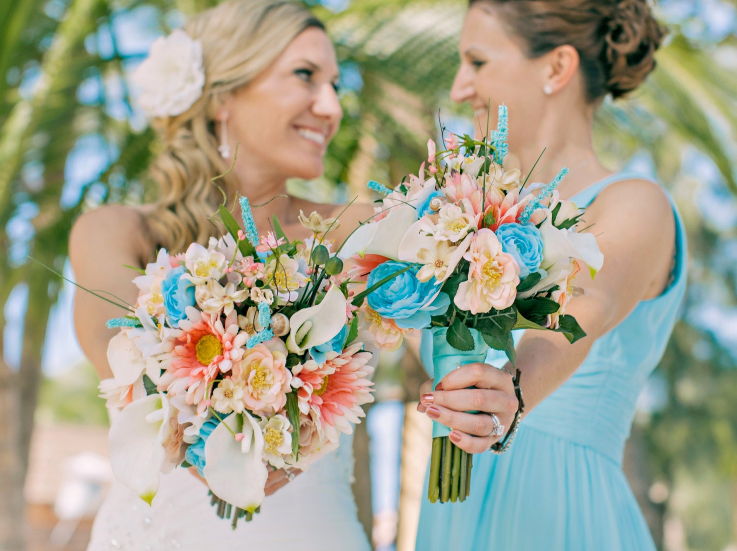 silk flowers for destination wedding