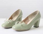 50s shoes - vintage mint green 1950's shoes - size 6 - 1919vintage