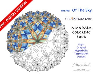 Of The Sky DIGITAL Mandala Coloring Book - PDF VERSION