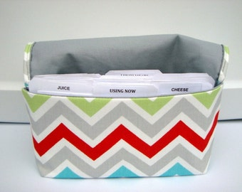 Coupon Organizer Cash Budget Organizer Holder- Attaches to your Shopping Cart - Zig Zag Chevron - Twill Harmony