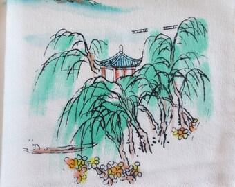 Vintage /// Chinese Silk handkerchief
