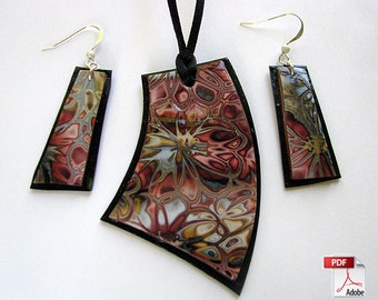 Hidden Flowers Polymer Clay Jewelry Tutorial