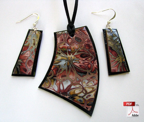 Hidden flowers polymer clay jewelry tutorial mozeypictures Image collections