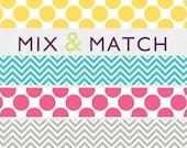 Etsy Shop Banner, choose your pattern & colour. Chevron. Dots. Simple, fun banner.