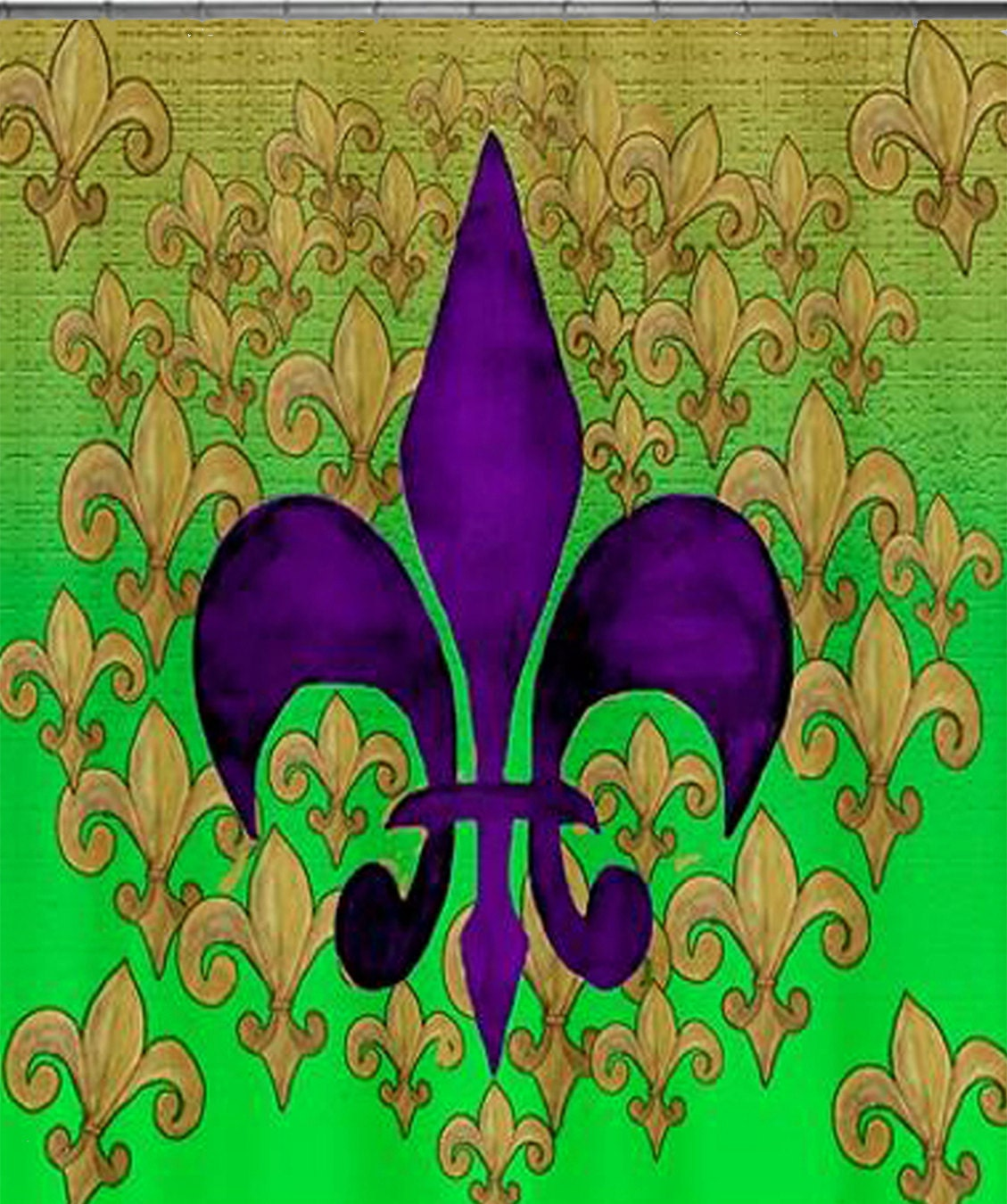Purple fleur de lis art shower curtain by maremade on etsy - Fleur de lis shower curtains ...