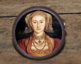Tudor Queen ANNE of CLEVES tie tack or ring or pendant or pin or cuff links