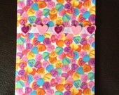 Valentine Hearts Fabric Journal