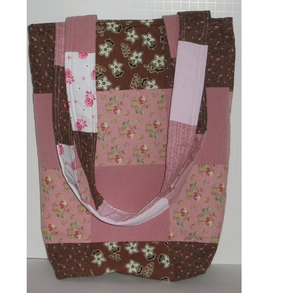 Miss Alyces Patchwork Knitting Tote