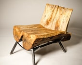 Silver Ghost Chair - Salvaged live-edge maple chair
