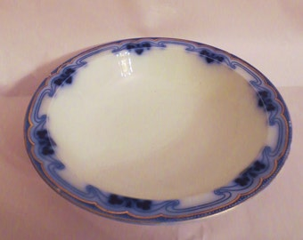 Bowl- Antique flow blue- Grindley Olympic Idris -Antique Flow Blue Large serving  round bowl