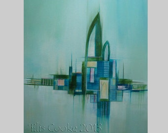 Modern Abstract Expression Art Original Contemporary Painting Sanctuary8