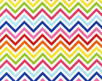 Robert Kaufman Fabric Remix Chevron Stripe Bright Ann Kelle