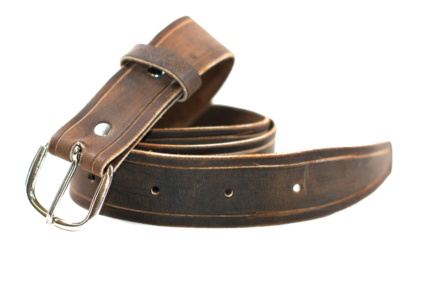 distressed brown leather belt s leather belt