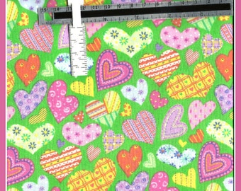 Retro Style Hearts Fabric Perfect for Spring and Summer
