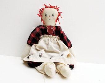 Vintage Raggedy Ann Cloth Doll