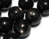Hypersthene 12mm smooth polished round beads whole strand