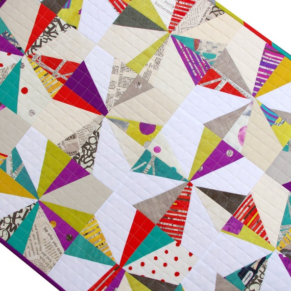 Modern Liberated Star Patchwork Quilt or Wall Hanging