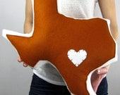 Customizable Texas State Pillow