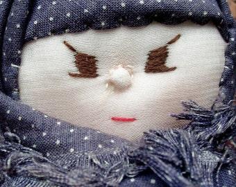 Vintage Russian Woman Pin Cushion Doll Unusual Cute