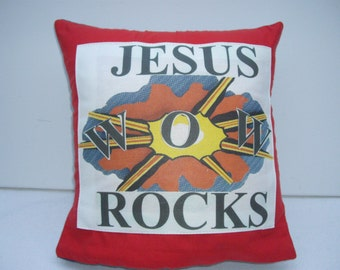 Wow Jesus Rocks Pop ART Cushion