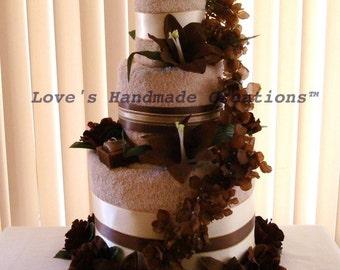 Wedding Towel Cake,  Floral Design