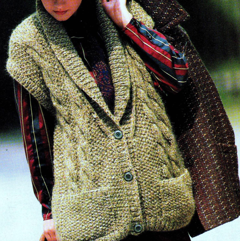 INSTANT DOWNLOAD PDF Vintage Knitting Pattern Chunky Tweed