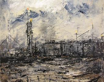 Power Station - Original Acrylic Painting