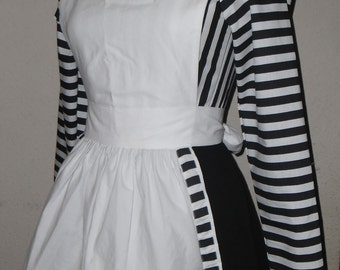 Custom Made to Order Real World Alice Striped Dress with Apron