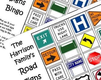 Instant Download. Print Travel Game. Car Bingo. All Types of Signs. Download. Print
