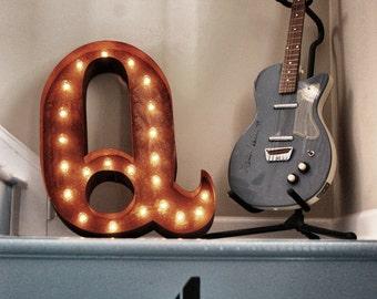 "SALE- Letter Q - 24"" Vintage Marquee Lights"